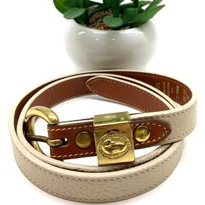 Dooney & Bourke cream leather belt small 26-28